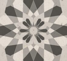 Grey Geometric Mandala Sticker