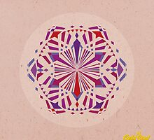 Red/Purple Geometric Mandala by goldsoul