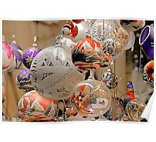 Glass Ball Christmas Ornaments Poster