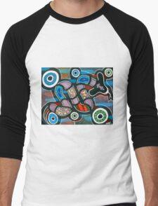 """Rainbow Serpent Travelling"" Men's Baseball ¾ T-Shirt"
