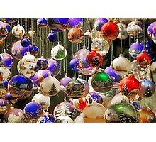 Christmas Tree Ornaments Photographic Print