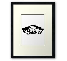 Vans Logo - Off the Wall Framed Print