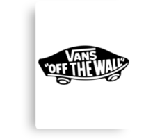 Vans Logo - Off the Wall Canvas Print