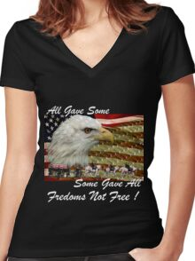 Some Gave All Women's Fitted V-Neck T-Shirt