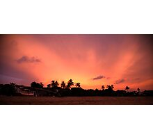 Sunset over Sri Lanka Photographic Print