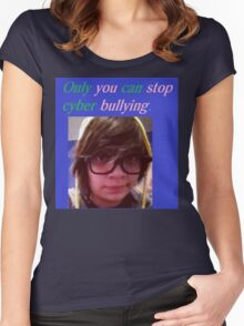 Stop Cyber Bullying Women's Fitted Scoop T-Shirt