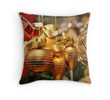 Glass Christmas Balls Card Throw Pillow