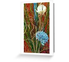 Swirls. Spike & Flowers Greeting Card