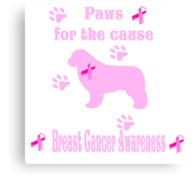 Paws For The Cause Newfoundland Dog Canvas Print