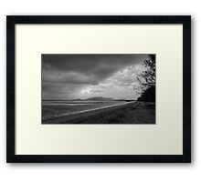Stormy Beach HDR Framed Print