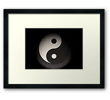 Yin Yang Leather Texture Framed Print