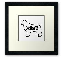 Got Newf? Framed Print