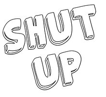 Shut Up Sticker by ameliabedelia