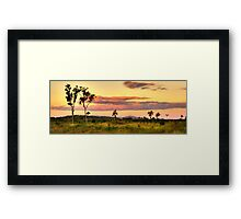 Sunset on the plain HDR Framed Print