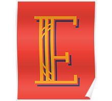 Saffron Letter E Poster