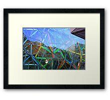 Coloured Angles! Framed Print
