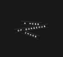 A Mess Of Gorgeous Chaos Embossed Labels Black by Brian Carson