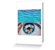Blue Shimmering Pools  Greeting Card