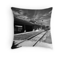 ~ Last Call, leaving on Track 5 ~ Throw Pillow