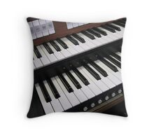 Rows of Keys - Section of Organ Keyboard Throw Pillow