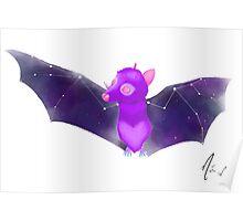 Cosmic Bat - Nebula Poster
