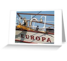 Europa - Ship's Bell Greeting Card