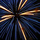 Electric Blue Starburst Fireworks by jrhall19