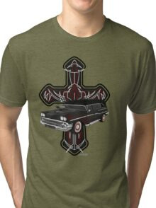 Hearse and Cross Tri-blend T-Shirt