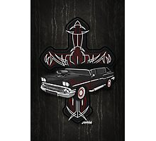 Hearse and Cross Photographic Print