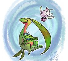 Pokemon Mystery Dungeon- Groyle and Celebi by Meghan Stockham