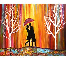 Romance in the rain II Photographic Print