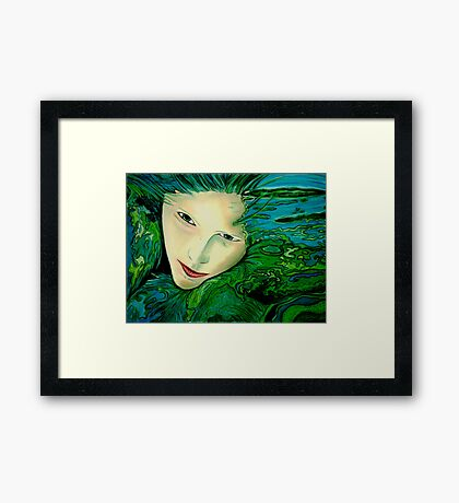 Aqua Allure Framed Print
