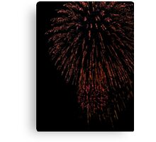 Fireworks Red Rain Canvas Print