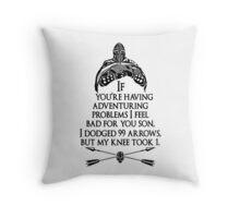 Arrowborn Throw Pillow