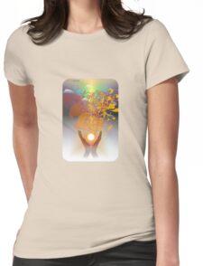 Healing Hands Womens Fitted T-Shirt