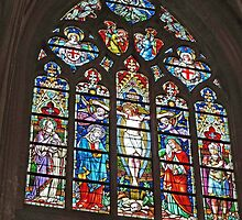 Window in Cathedral of St Salvatore by Graeme  Hyde