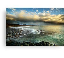 Storm over Fingle Beach Canvas Print