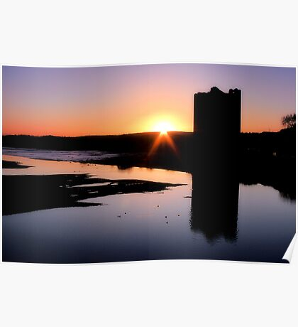 Belvelly Castle Sunrise Poster