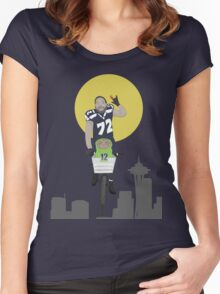 Michael Bennett Does Victory Lap With ET Women's Fitted Scoop T-Shirt