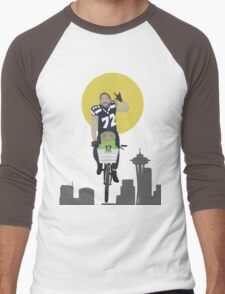 Michael Bennett Does Victory Lap With ET Men's Baseball ¾ T-Shirt