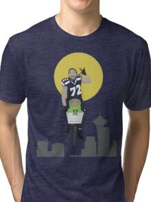 Michael Bennett Does Victory Lap With ET Tri-blend T-Shirt