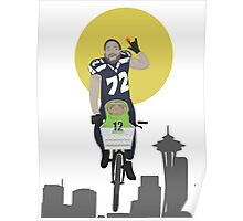 Michael Bennett Does Victory Lap With ET Poster