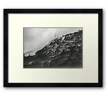 Monotone Mountain. Framed Print