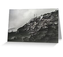 Monotone Mountain. Greeting Card
