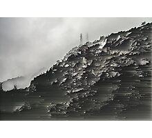 Monotone Mountain. Photographic Print