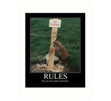 RULES Art Print