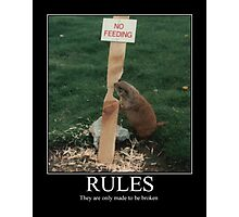 RULES Photographic Print