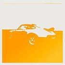 Porsche 911 Carrera - Yellow on White by uncannydrive