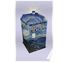 TARDIS Illustrated- Starry Night Poster