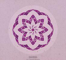 Sahasrara - The Crown Chakra Mandala by goldsoul